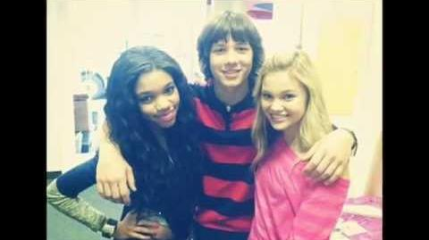 ♥leo howard and olivia holt♥-kissin U