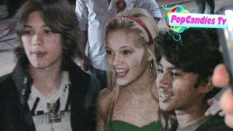 Leo Howard & Olivia Holt greet fans @ The 80th Anniversary Hollywood Christmas in Hollywood!