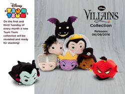 DisneyTsumTsum PlushSet Villains uk 2016 Mini Banner