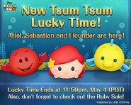 DisneyTsumTsum Lucky Time International LittleMermaid LineAd2 20150501