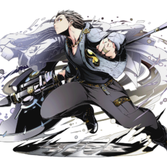 High-res Void Axe-Wielding Hero, Ginji without bg