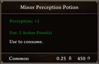 DOS Items Pots Minor Perception Potion Stats