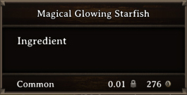 DOS Items CFT Magical Glowing Starfish