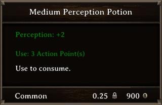DOS Items Pots Medium Perception Potion Stats