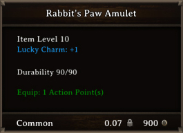 DOS Items CFTX 10.5 Rabbit's Paw Amulet