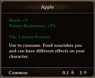 DOS Items Food Apple Stats