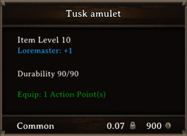 DOS Items CFTX 10.5 Tusk Amulet