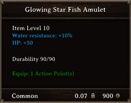 DOS Items CFTX 10.5 Glowing Star Fish Amulet