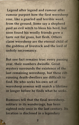DOS Items Books The Legend of the Weresheep Page2