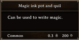 DOS Items Tools Magic ink pot and quill