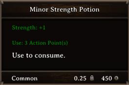DOS Items Pots Minor Strength Potion