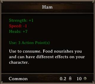 DOS Items Food Ham Stats