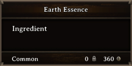 DOS Items CFT Earth Essence