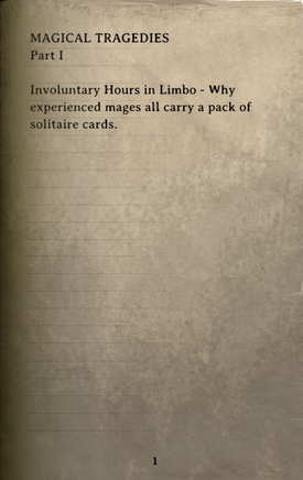 DOS Items Books Magical Tragedies (Part 1) Page