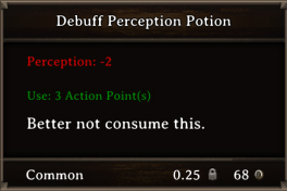 DOS Items Pots Debuff Perception Potion