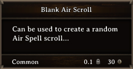 DOS Items Scrolls Blank Air Scroll