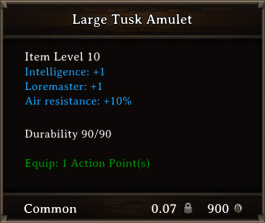 DOS Items CFTX 10.5 Large Tusk Amulet