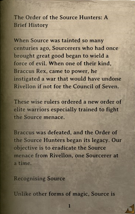 DOS Items Books The Order of the Source Hunters Page1