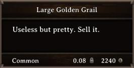 DOS Items Precious Large Golden Grail