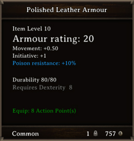 DOS Items CFTX 10.5 Polished Leather Armour
