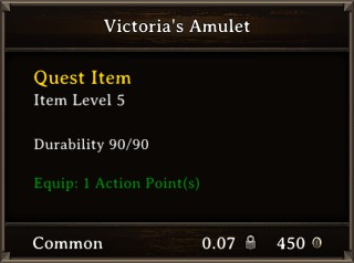 DOS Items Quest Victoria's Amulet Stats