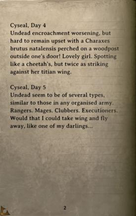 DOS Items Books Aureus' Diary Page2