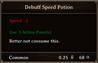 DOS Items Pots Debuff Speed Potion Stats