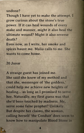 DOS Items Books Thelyron's Diary Page4