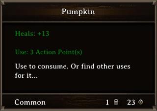 DOS Items Food Pumpkin Stats