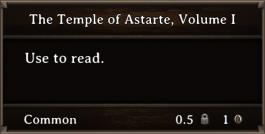 DOS Items Books The Temple Of Astarte, Volume I
