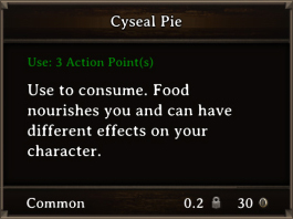 DOS Items FnD Cyseal Pie