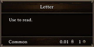 DOS Items Books Letter Stats