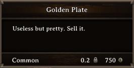 DOS Items Precious Golden Plate