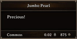 DOS Items Precious Jumbo Pearl