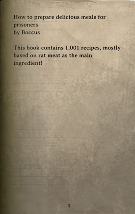 DOS Items Books Jailer's Cookbook Page