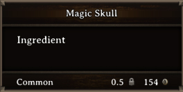 DOS Items CFT Magic Skull