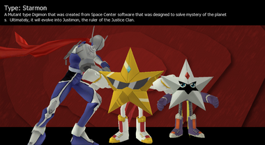 Starmon's evolution line