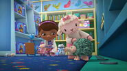 Lambie and toy porkupine