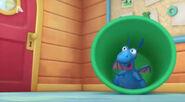 Stuffy in the green bin
