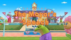 The mayor's speech title