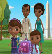 McStuffins' family dressed up