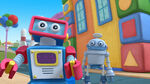 Two toy robots