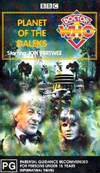 Planet of the daleks australia vhs
