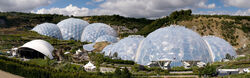 Eden Project geodesic domes panorama