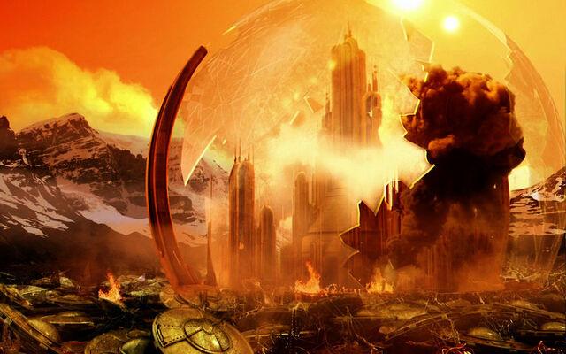 File:Gallifrey Burning by kleeng.jpg