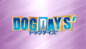Dog days' title screen