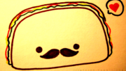 Taco with a mustache