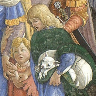 File:Botticelli Trials of Moses, detail boy with dog.jpg