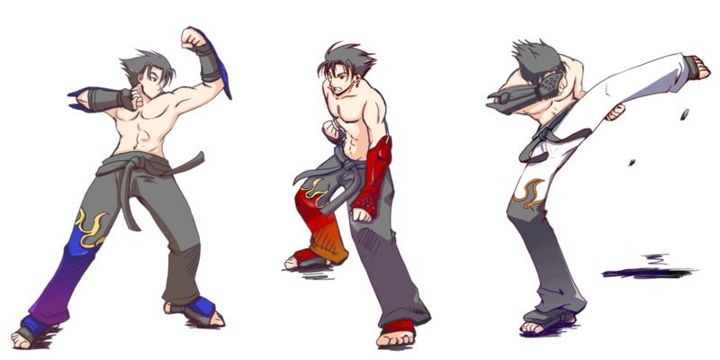 Jin kazama poses by kitkatio-d3j890e