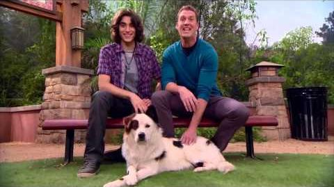 "Blake Michael and Regan Burns ""Dog With a Blog"" Host Give Props to Pets Marathon"